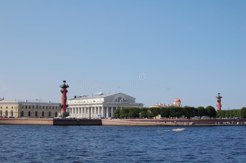 St. Petersburg. On Neva river, Russia royalty free stock photo