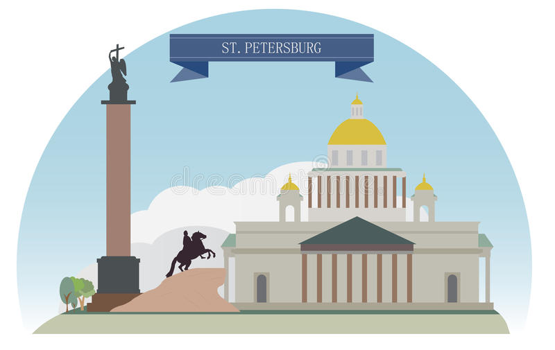 St Petersburg stock illustrationer