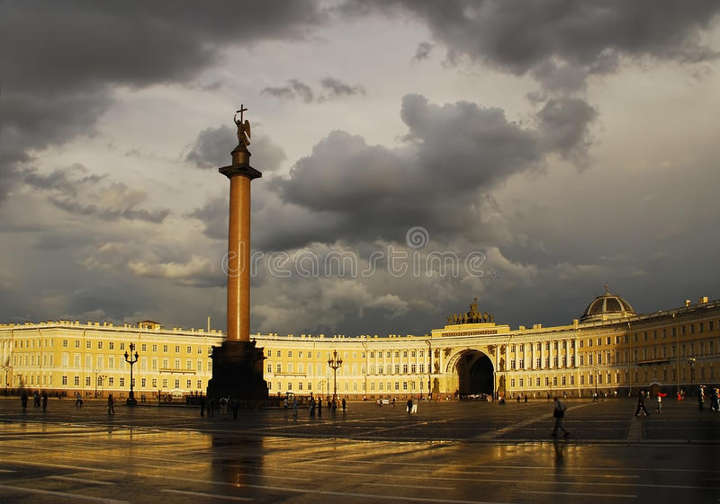 Download St. Petersburg, The Alexander Column Stock Image - Image of journey, state: 22447163