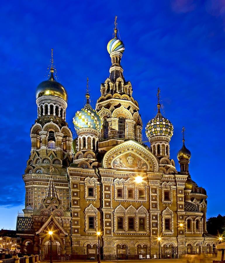 St. Petersburg bij nacht 1 royalty-vrije stock fotografie