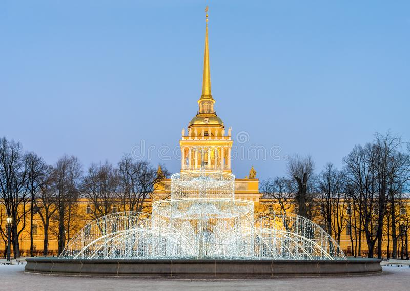 St Petersburg on Christmas stock images