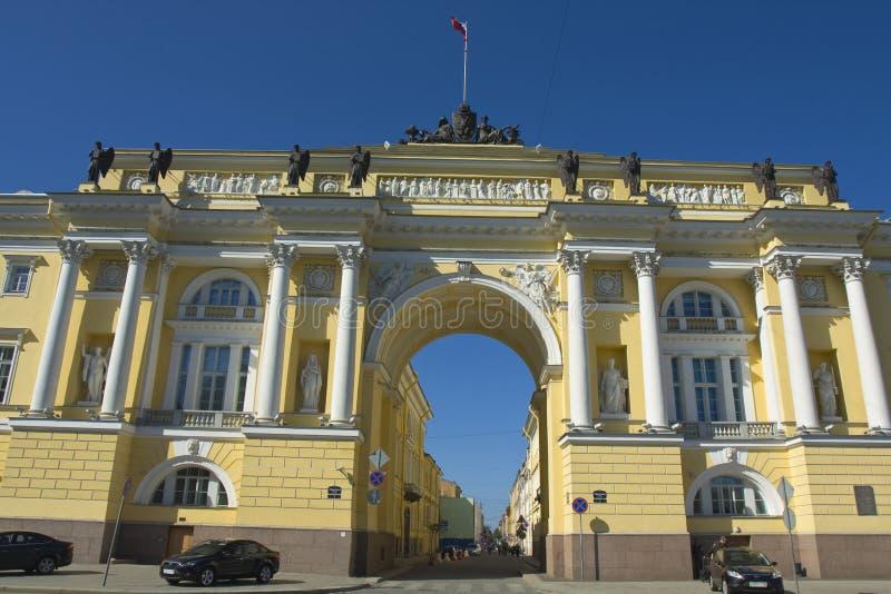 St Petersburg, construcción del senado y del sínodo fotos de archivo libres de regalías