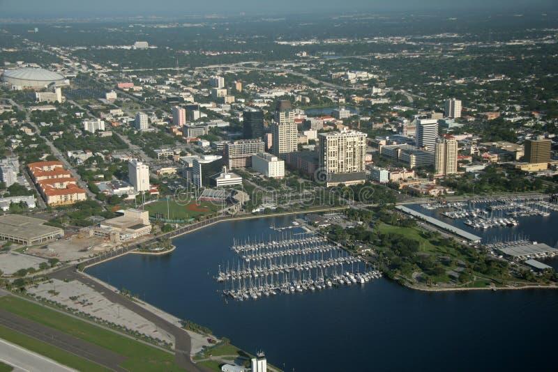 St. Petersburg de stad in - Florida royalty-vrije stock afbeelding