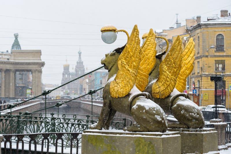 St Petersburg in de winter stock fotografie