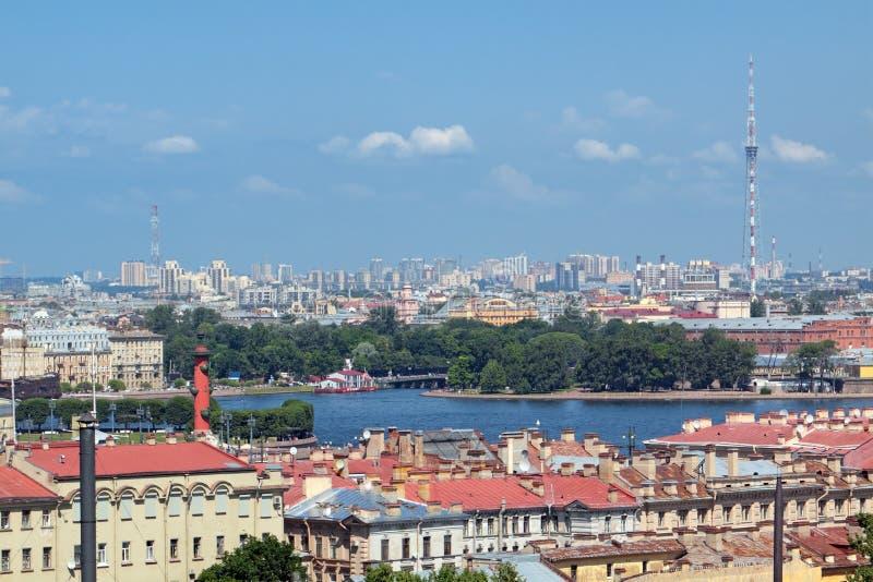 St Petersburg, Draufsicht lizenzfreie stockfotos
