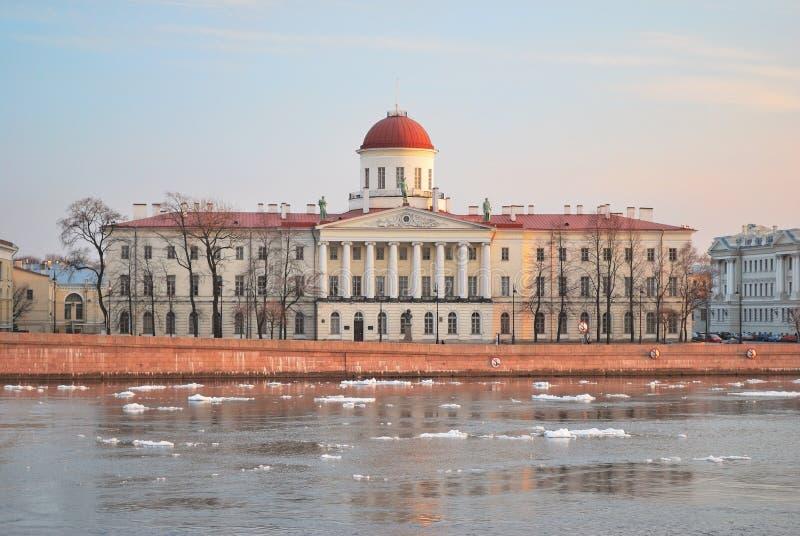 St Petersburg en resorte imagen de archivo