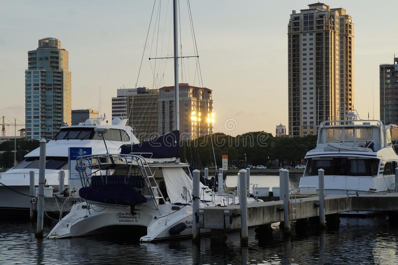 St Petersburg, FL śródmieścia drapacze chmur fotografia royalty free