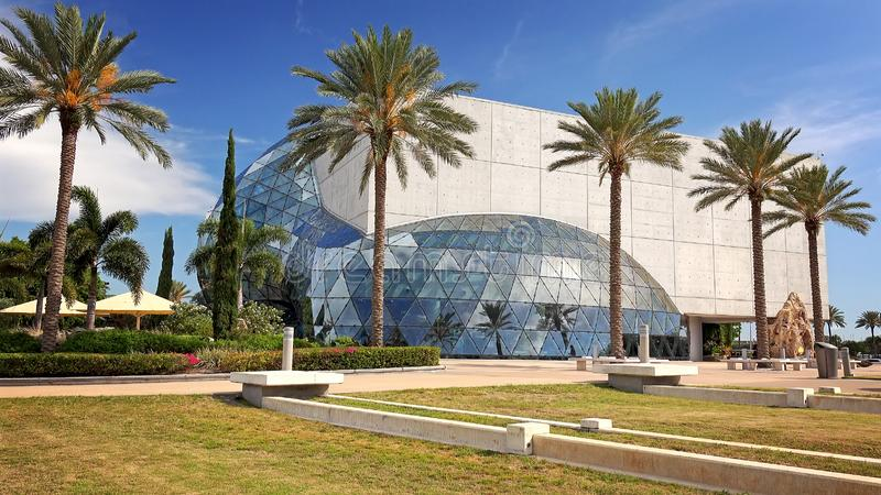 Salvador Dali Museum Exterior in St Petersburg, Florida. ST PETERSBURG, FLORIDA - MAY 29th: Exterior of the Salvador Dali Museum in St Petersburg, Florida on May royalty free stock photo