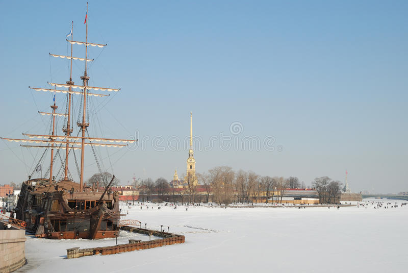 St Petersburg. Forteresse de Petropavlovskaya image stock