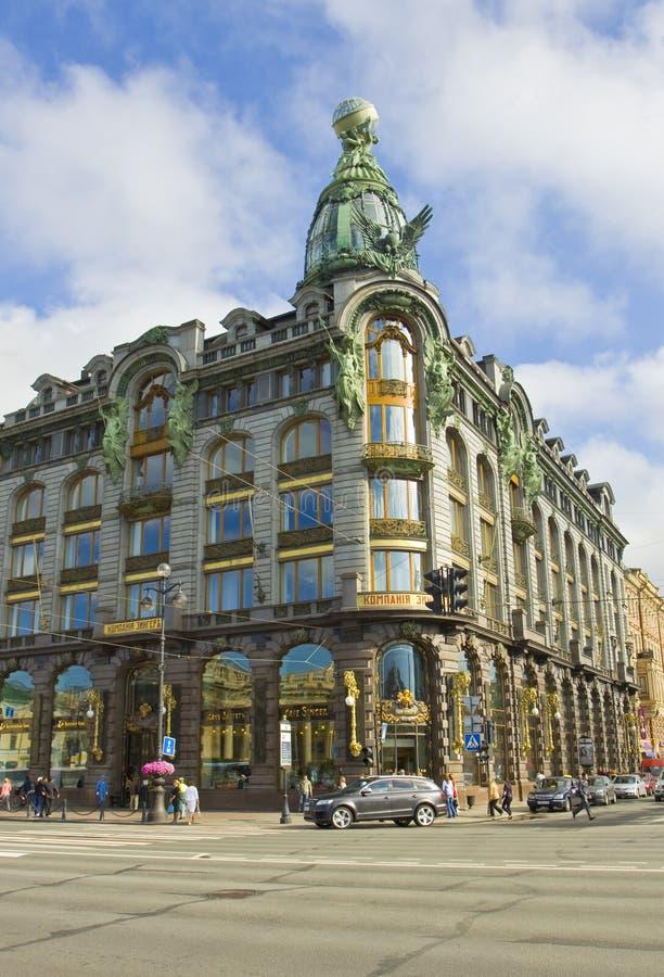 St Petersburg hus av företaget Zinger arkivfoto