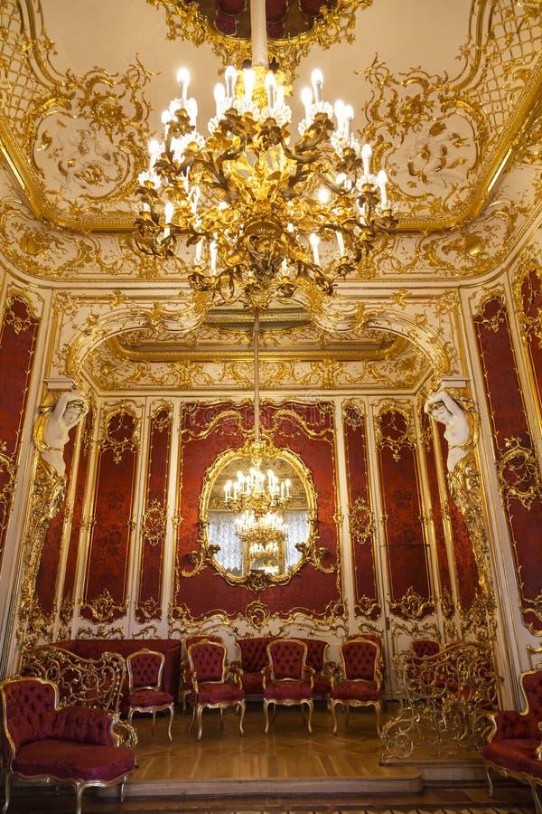 St Petersburg Inre budoar av kejsarinnan Maria Alexandrovna, frun av den ryska kejsaren Alexander II royaltyfri foto