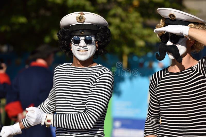 St Petersburg internationell marin- festival 2015 arkivbild