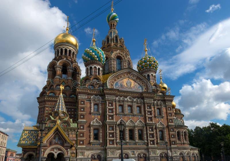 St. Petersburg - Kathedraal van Onze Verlosser op Gemorst Bloed royalty-vrije stock fotografie