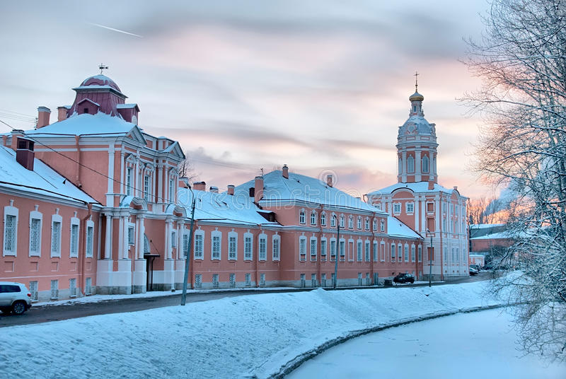St Petersburg La Russia San Alexander Nevsky Monastery immagine stock libera da diritti