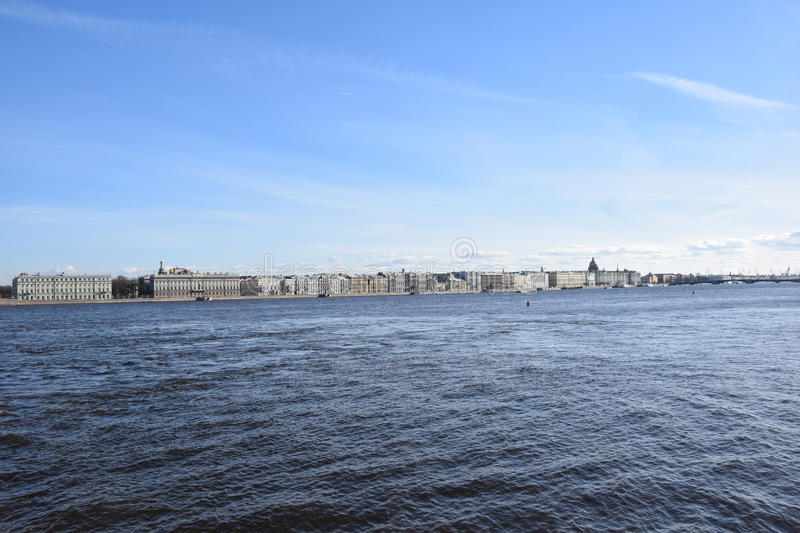 St. Petersburg landscape royalty free stock image