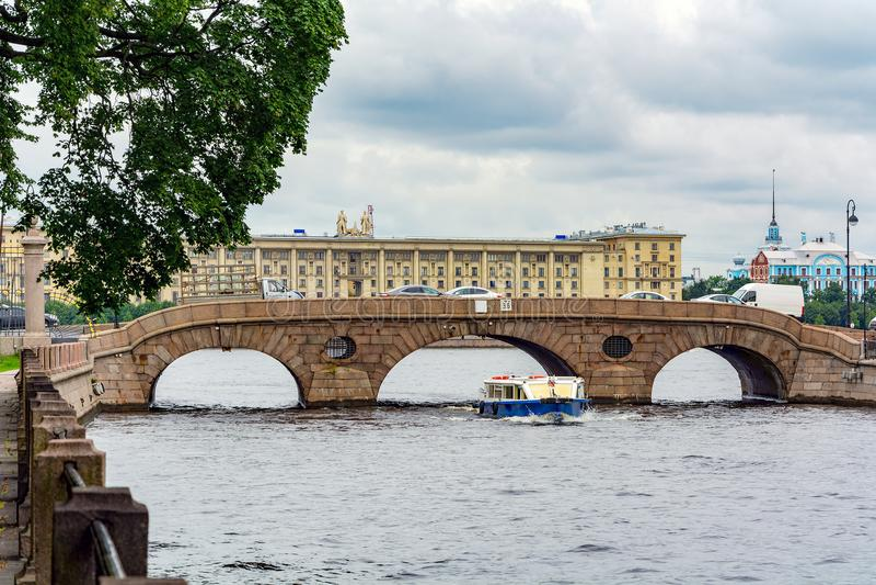 St. Petersburg, Laundromat bridge royalty free stock photo