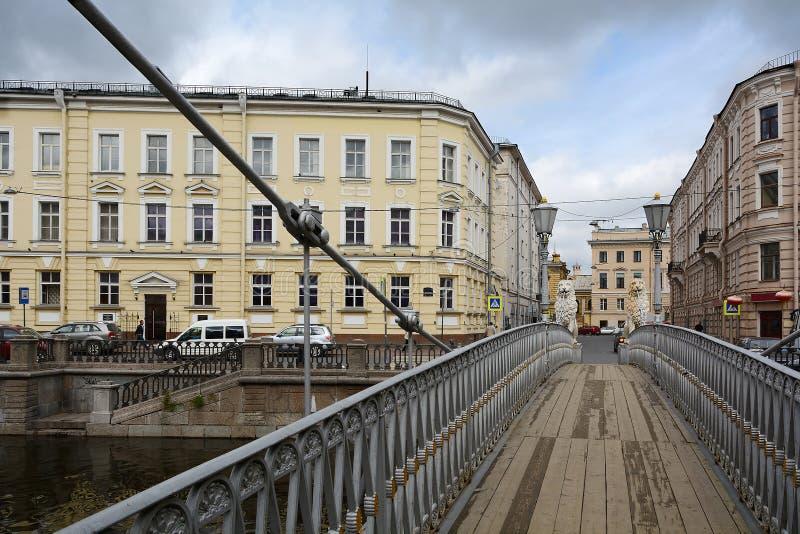 St Petersburg, le pont de lion photos libres de droits
