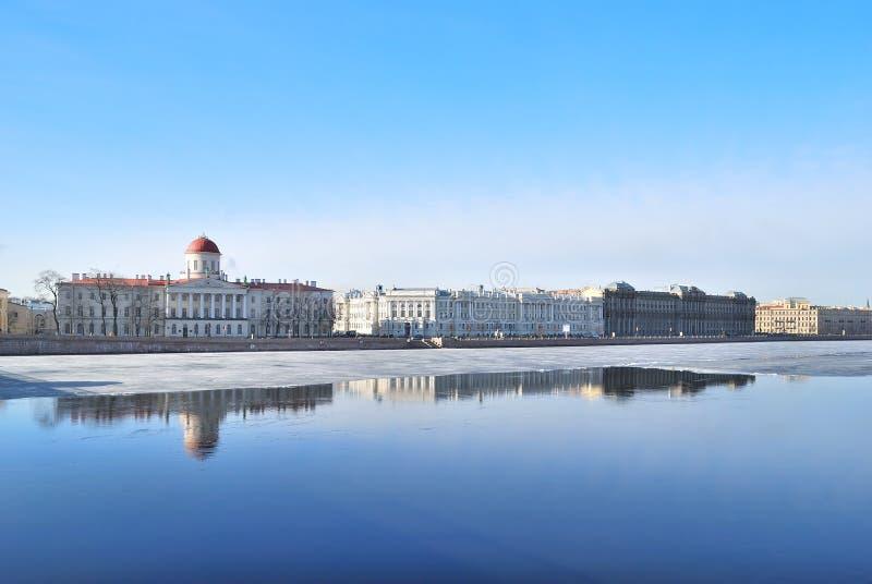 St Petersburg. Malaya Neva Quay fotografía de archivo libre de regalías
