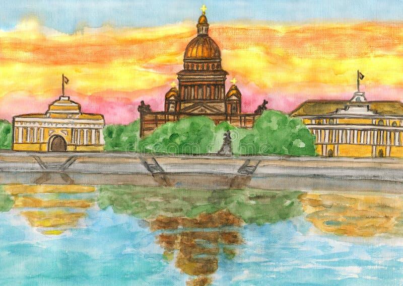 St. Petersburg, maluje royalty ilustracja
