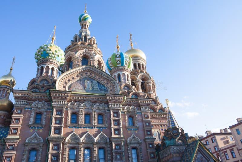 St Petersburg Mening van de Kathedraal van de Verlosser op Gemorst Bloed royalty-vrije stock foto
