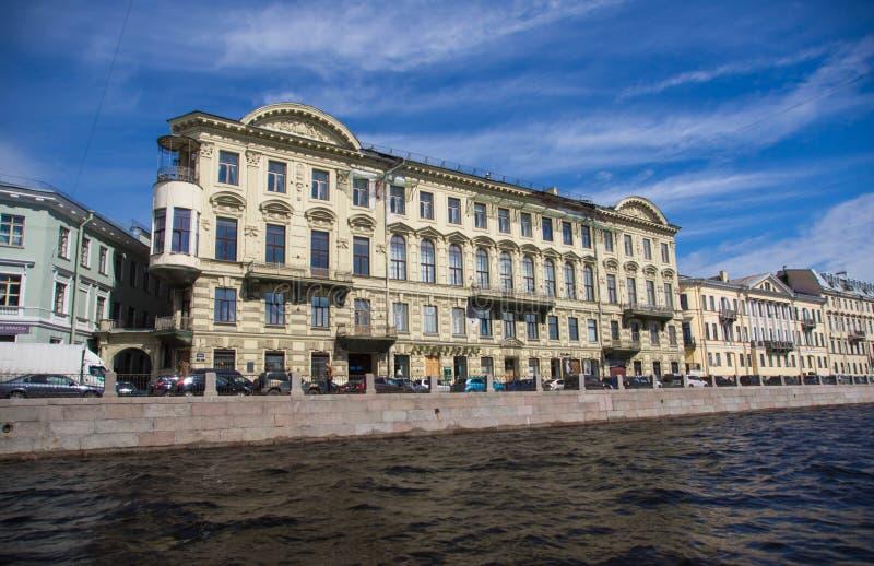 St. Petersburg, mening van de stad van het kanaal royalty-vrije stock fotografie