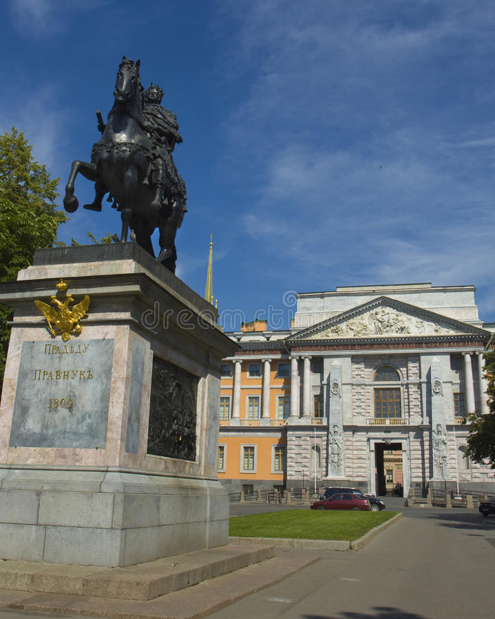 St. Petersburg, Mikhaylovskiy inżyniera kasztel i zabytek ki, zdjęcia royalty free