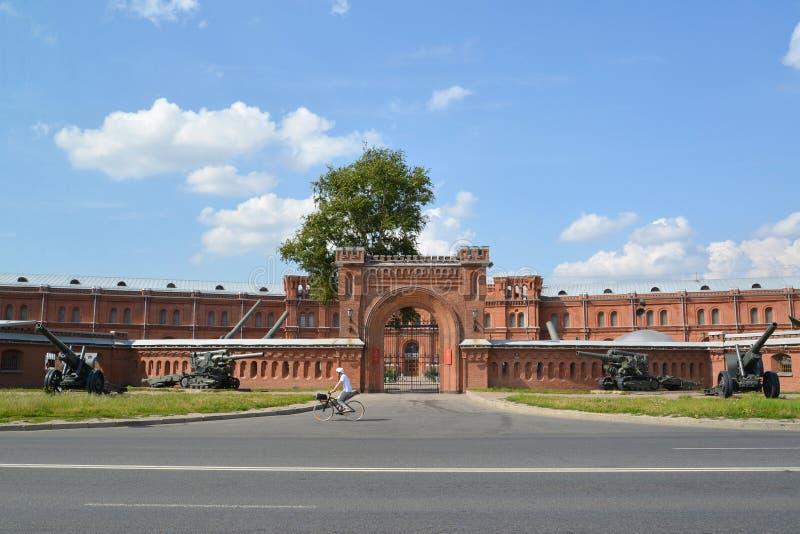 St Petersburg Militär- und historisches Museum von Artillerie, englisch lizenzfreie stockfotografie