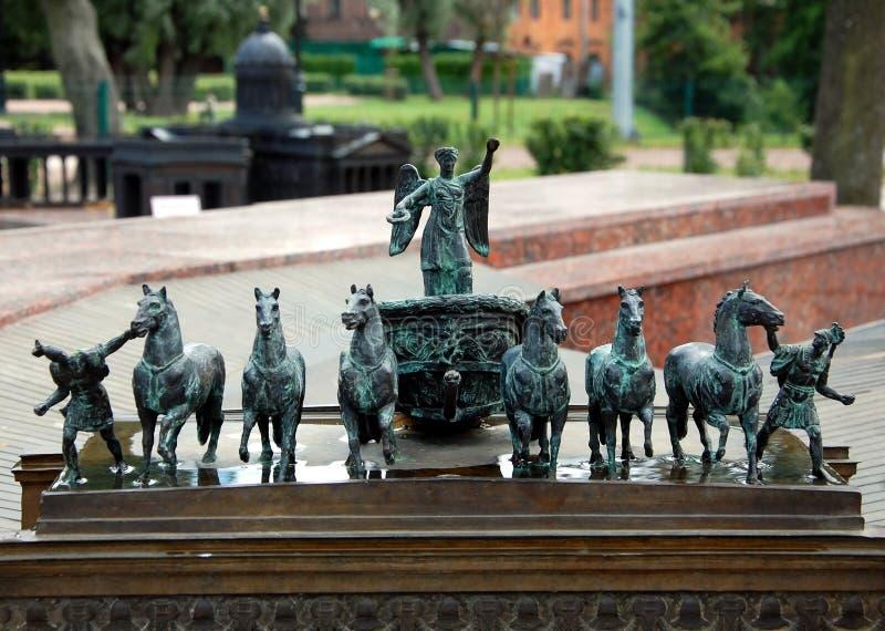 St Petersburg Mini City i Alexander Park fotografering för bildbyråer