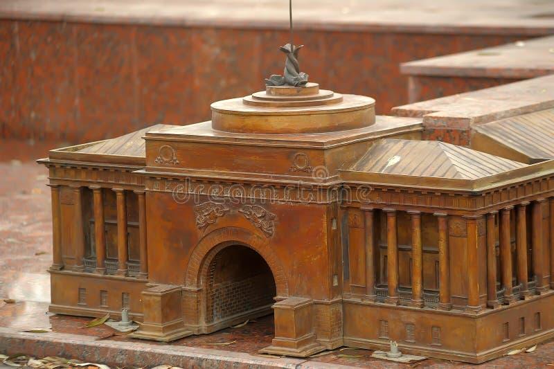 St. Petersburg in miniatuur stock fotografie
