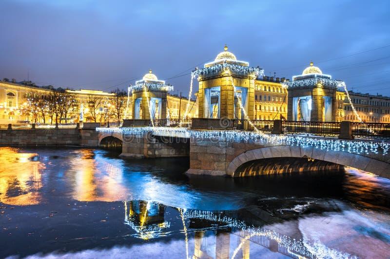 St Petersburg na bożych narodzeniach zdjęcia stock