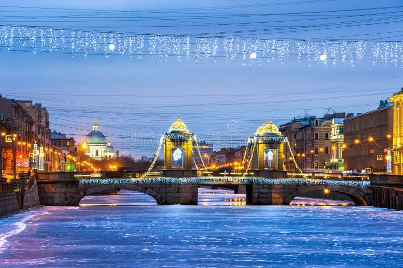St Petersburg na bożych narodzeniach zdjęcia royalty free