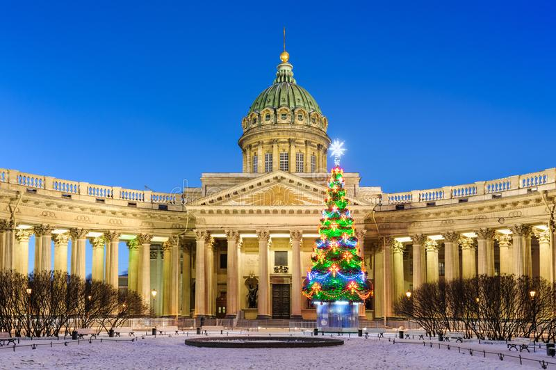 St Petersburg na bożych narodzeniach obraz royalty free