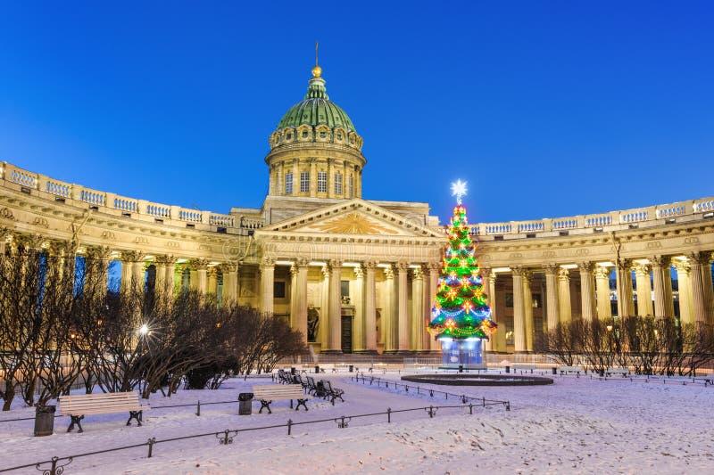 St Petersburg na bożych narodzeniach zdjęcie stock