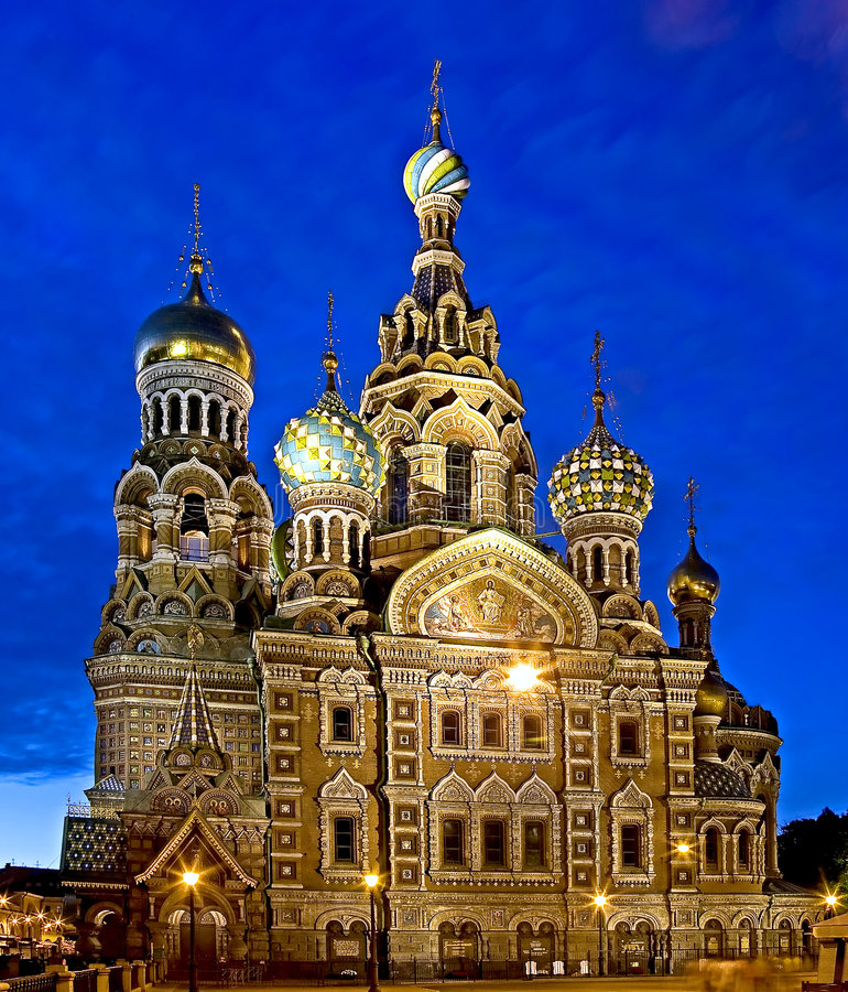 St.Petersburg at night 1 royalty free stock photography
