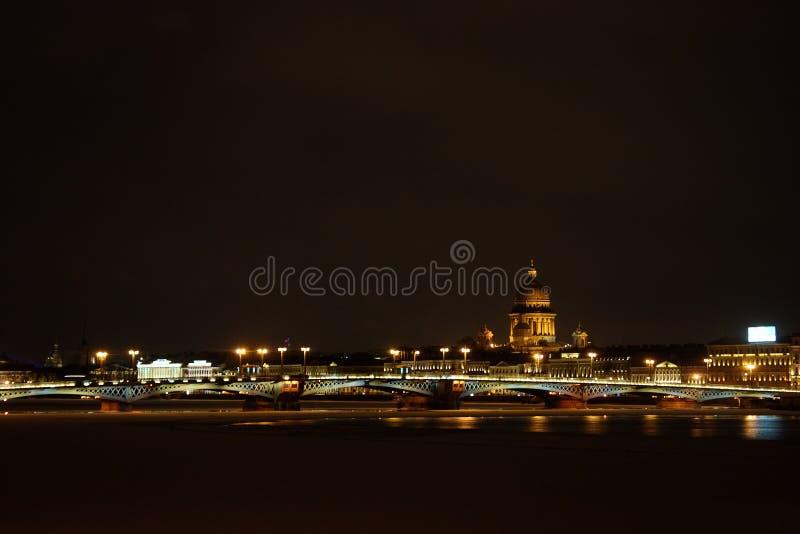 St Petersburg nocturne, Russie photos libres de droits