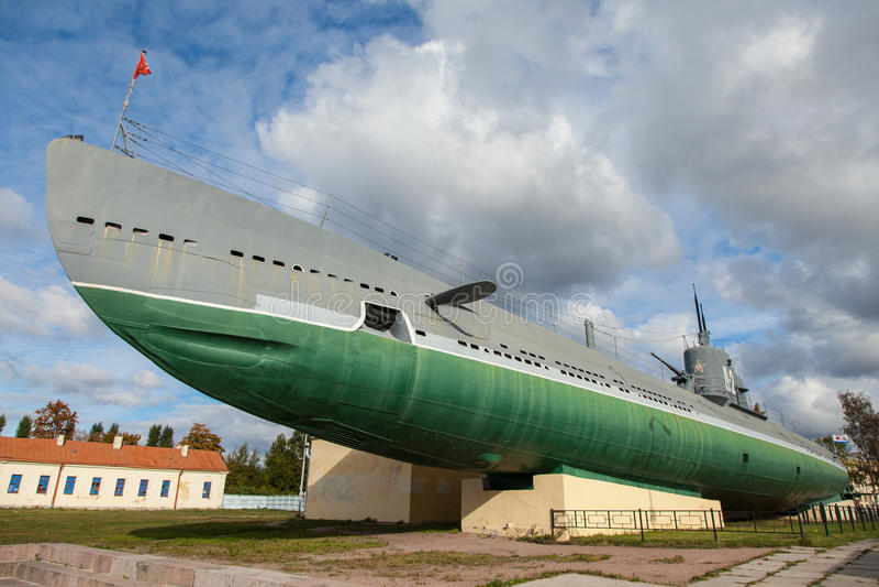 St Petersburg, o submarino D2, monumento foto de stock royalty free
