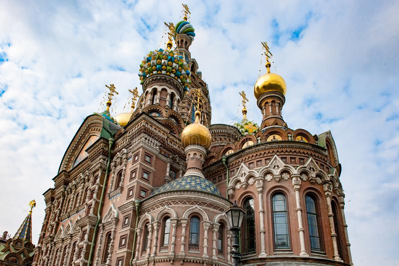 St Petersburg Orthodox Church Savior on Spilled Blood, Cathedral of the Resurrection of Christ royalty free stock images