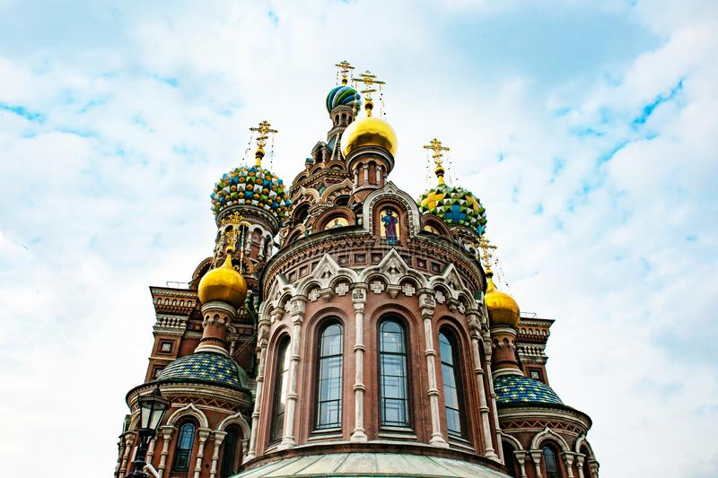 St Petersburg Orthodox Church Savior on Spilled Blood, Cathedral of the Resurrection of Christ royalty free stock photos