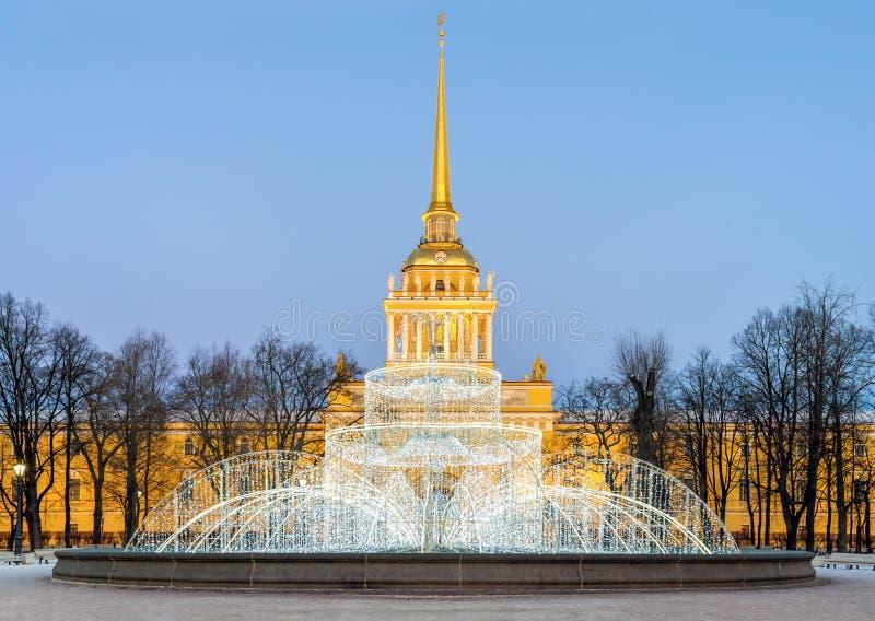 St Petersburg på jul arkivbilder