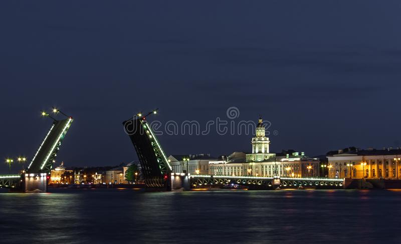 St. Petersburg, The Palace bridge stock photo
