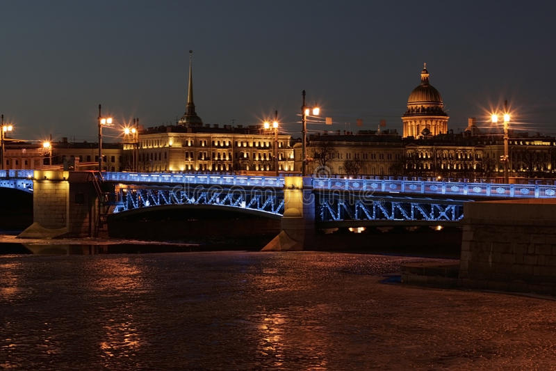 St. Petersburg Palace bridge royalty free stock image