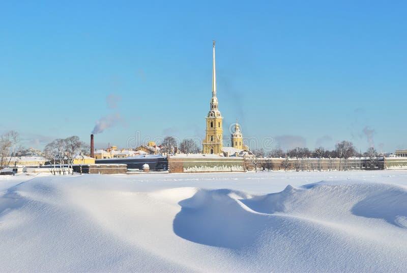 St. Petersburg, Peter en Paul Fortress royalty-vrije stock foto's