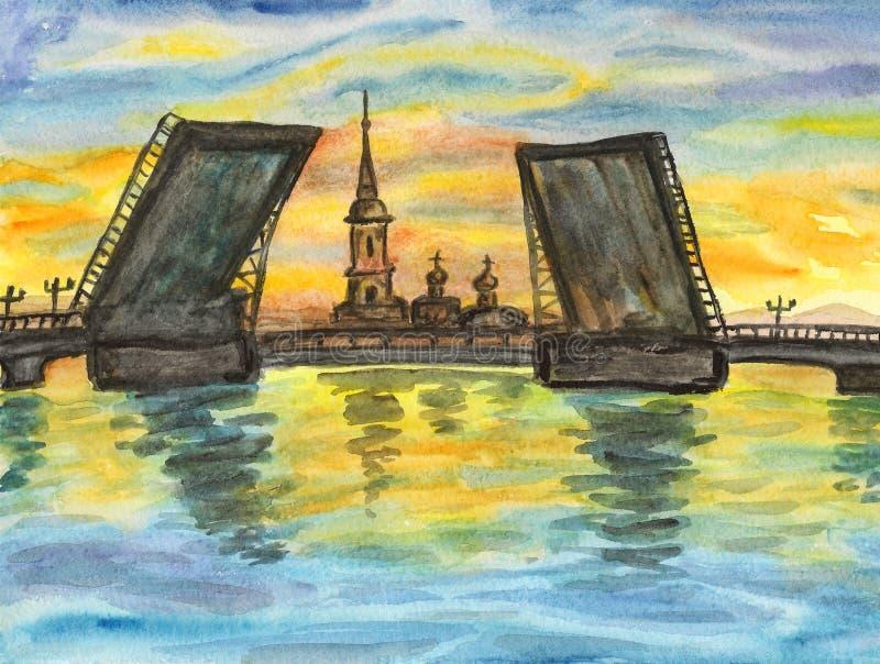 St Petersburg, pintando ilustração stock