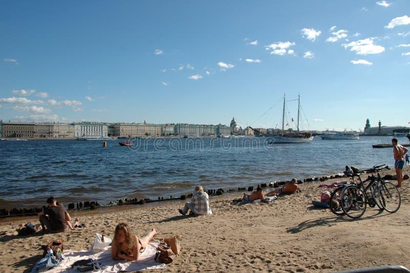 St Petersburg Playa de la fortaleza de Peter y de Paul fotos de archivo
