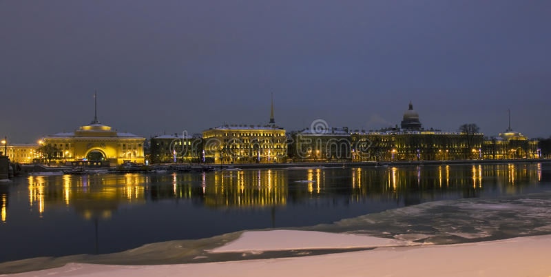 St. Petersburg, Quay Of Neva Stock Photos