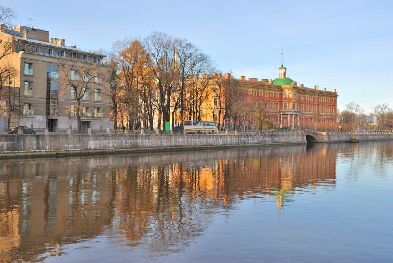 St Petersburg. Río de Fontanka fotografía de archivo libre de regalías