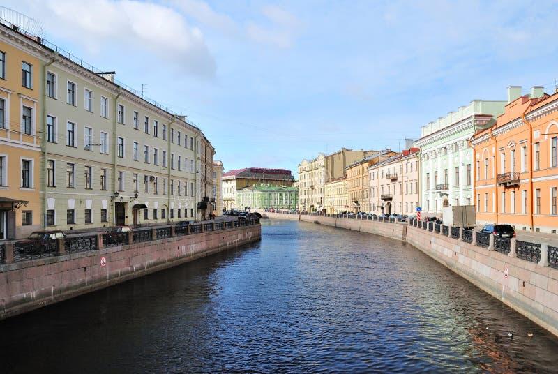 St Petersburg, río Mojka imágenes de archivo libres de regalías