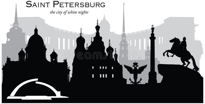 St Petersburg, Rússia ilustração stock