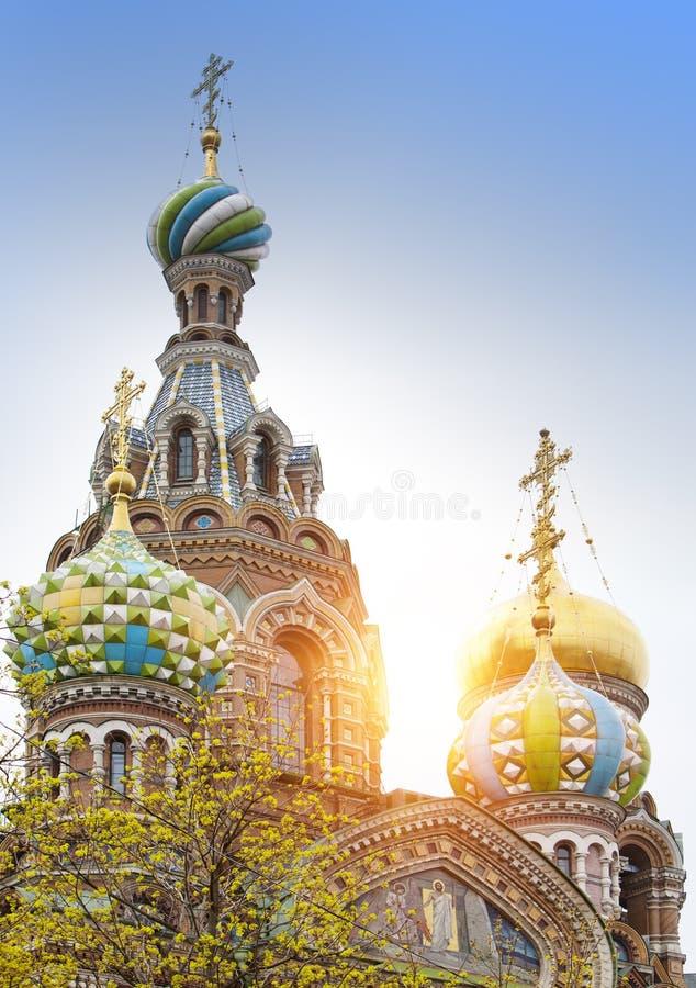 St Petersburg, Rússia catedral Termas-na-krovi foto de stock