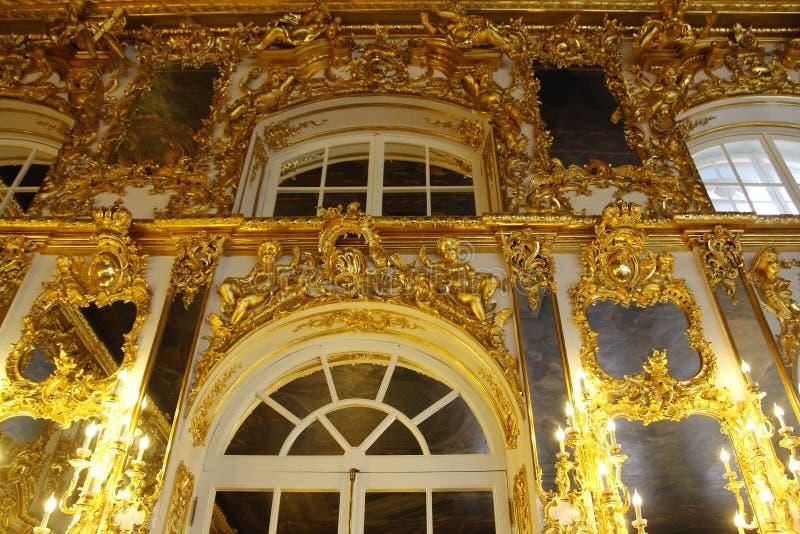 ST PETERSBURG, RÚSSIA - 6 DE OUTUBRO DE 2014: Interior de um de t fotos de stock royalty free